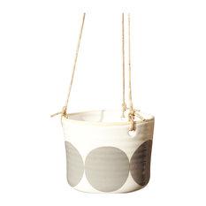 Ulla Spotty Hanging Pot, Grey