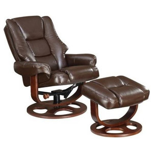 Awe Inspiring Moran Bonded Leather Recliner And Ottoman Contemporary Cjindustries Chair Design For Home Cjindustriesco