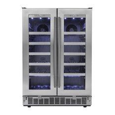 Silhouette Napa French Door Design Wine Cooler