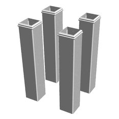 "New England Arbors - Pergola Base Mouldings, 6""x6""x30"" - Pergolas"