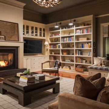Scottish Inspired Library/Family Room