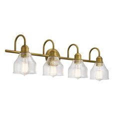 Avery 4 Light Bathroom Vanity Light in Natural Brass