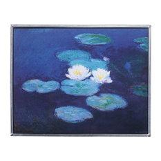 Monets Water Lilies 1889 Art Glass