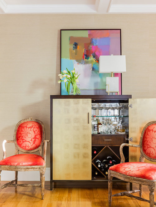 Example Of A Small Trendy Home Design Design In Boston