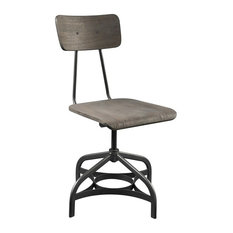 ACME Jonquil Swivel Dining Side Chair In Gray (Set Of 2)
