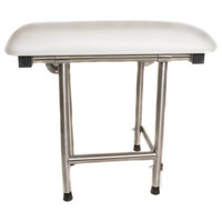 "Rectangle Padded Folding Shower Seat with Swing Down Legs, 22""x16"""