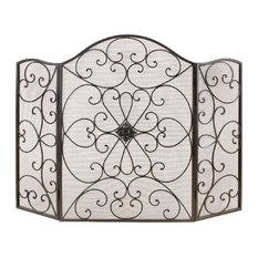 brimfield may metal fire screen fireplace accessories - Decorative Fireplace Screens
