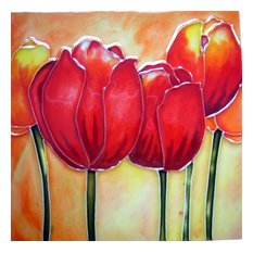 Red Tulips Tile