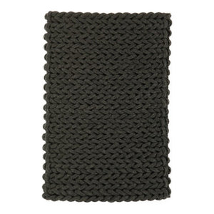 Helix Charcoal Rectangle Plain/Nearly Plain Rug 120x170cm