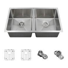 Kitchen Sink, 16-Gauge, Ensemble