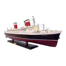 SS United States Limited 40'', Famous Model Cruise Ship, Wood Cruise Ship Mod