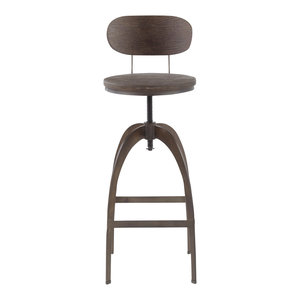 Peachy Lumisource Samurai Barstool Transitional Bar Stools And Pabps2019 Chair Design Images Pabps2019Com