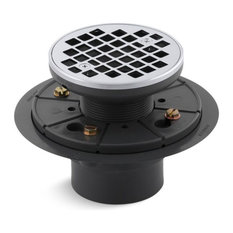 Kohler - Kohler Round Design Tile-in Shower Drain, Polished Chrome - Tub and Shower Parts