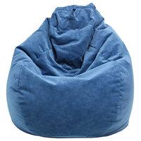 GOLD MEDAL® Bean Bag, Microsuede Corduroy, Navy, Large