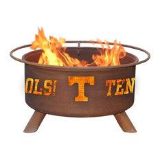 Customizable NCAA Logo Fire Pit , Rust Patina, Tennessee