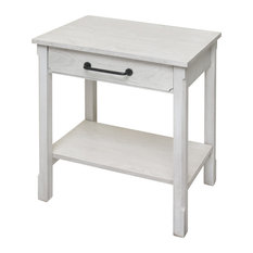 Farmhouse 1 Drawer Side Table