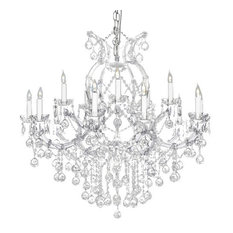 Crystal Silver Chandelier With Crystal Balls