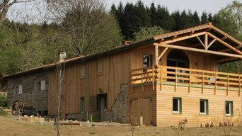 gîte d'étape pierre et bois