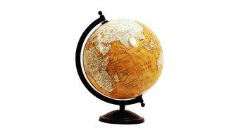 Yellow Ocean Antique World Globes