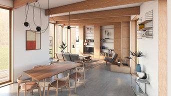 Projet Maison sur Ruines - Maison ossature bois