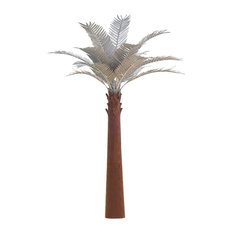 Desert Steel Palm Tree With Stalk, 14'