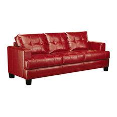 Merveilleux CoasterFine Furniture   Samuel Contemporary Leather Sofa, Red   Sofas