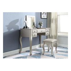 Acme Furniture Ordius Silver Vanity Set