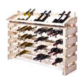 ModulaRack, Pro Wine Rack, End Display Units 96 Bottles, Natural Finish