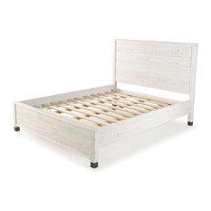 Baja Platform Bed, Shabby White, King