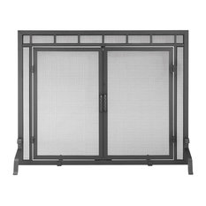"""Achla Fireplace Screen With Doors, 39""""x31"""""""