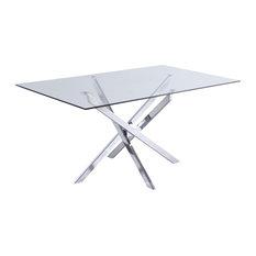 Xander Dining Table Chrome Legs