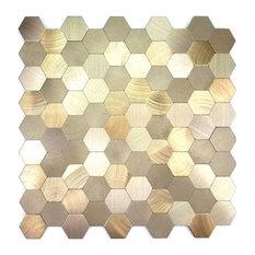 "Miseno MT-WHSEHMHEX-GO Enchanted Metals - 1"" x 1"" Hexagon Wall - Gold"