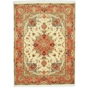 Tabriz 50Raj Persian Rug, Hand-Knotted, 203x152 cm