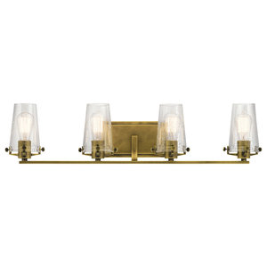 Alton Bath 4-Light, Natural Brass
