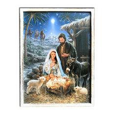 """A Savior Is Born"" Framed Led Fiber Optic Canvas."