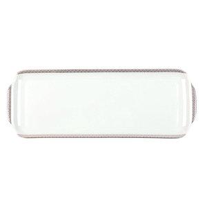 White Porcelain Cake Platter, Rectangular