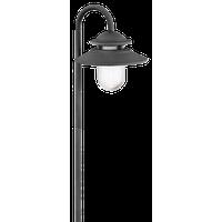 Atwell 1-Light Path-Light Aged Zinc Clear Seedy Glass