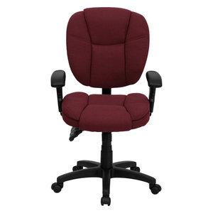 Fabulous Aberdeen Mid Back Black Fabric Ergonomic Swivel Office Task Pdpeps Interior Chair Design Pdpepsorg