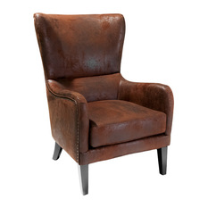 gdfstudio clarkson wingback armchair armchairs and accent chairs - High Back Chairs For Living Room