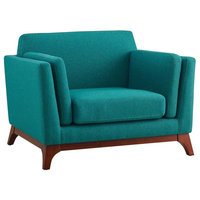 Chance Upholstered Fabric Armchair, Teal