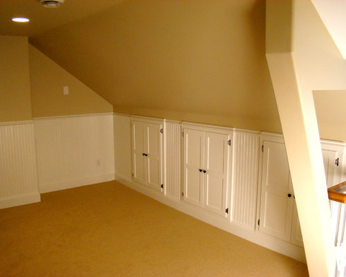 Attic storage home design ideas renovations photos - Traditional houses attic ...