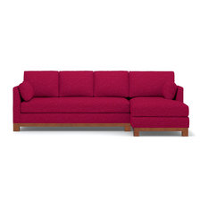 Avalon 2-Piece Sectional Sleeper Sofa, Pink Lemonade, Chaise on Right