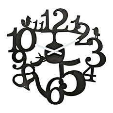 Tweet Wall Clock, Black