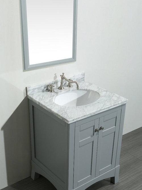 Gray Bathroom Vanities - 24 inch gray bathroom vanity