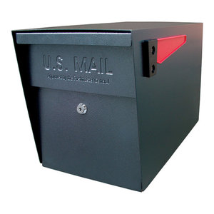 Mail Boss Locking Security Mailbox, Black