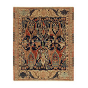 Empire Rug, Black and Beige, 9x12