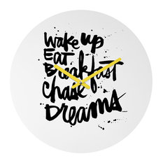 Deny Designs Kal Barteski Wake Up Round Clock