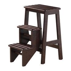 Boraam Industries, Inc.   Hallie Step Stool, Cappuccino   Ladders And Step  Stools