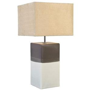 Alba Table Lamp, Cream and Grey