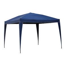 St. Kitts Square Folding Gazebo - Dark Grey/Navy Blue